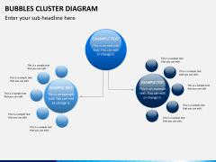 Bubbles cluster diagram PPT slide 4