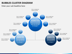 Bubbles cluster diagram PPT slide 5