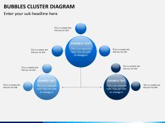 Bubbles cluster diagram PPT slide 6