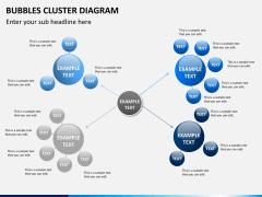 Bubbles cluster diagram PPT slide 8