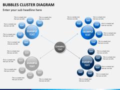 Bubbles cluster diagram PPT slide 9