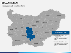 Bulgaria map PPT slide 13