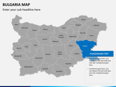 Bulgaria map PPT slide 14