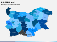 Bulgaria map PPT slide 2