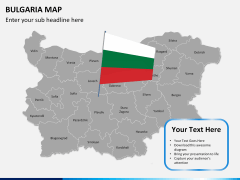Bulgaria map PPT slide 21
