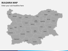 Bulgaria map PPT slide 3