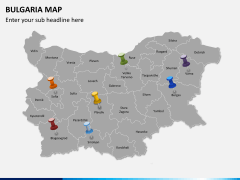 Bulgaria map PPT slide 4