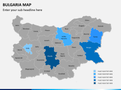 Bulgaria map PPT slide 9