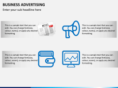 Business advertising PPT slide 3