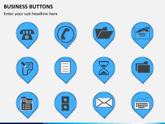 Business buttons PPT slide 1