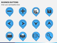 Business buttons PPT slide 2