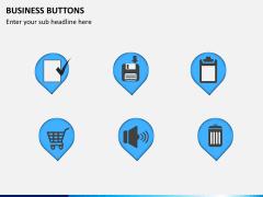 Business buttons PPT slide 5