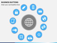 Business buttons PPT slide 6