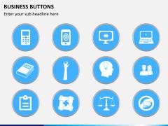 Business buttons PPT slide 7