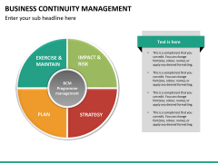 Business continuity management PPT slide 22