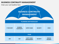 Business continuity management PPT slide 1