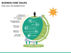 Business core values PPT slide 16