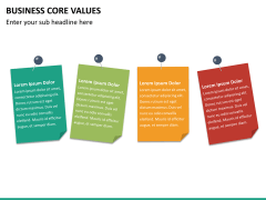 Business core values PPT slide 25