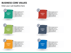 Business core values PPT slide 26
