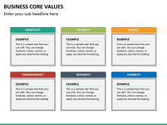 Business core values PPT slide 27