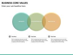 Business core values PPT slide 28