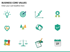 Business core values PPT slide 30