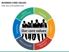 Business core values PPT slide 17