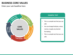 Business core values PPT slide 18