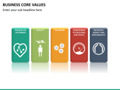 Business core values PPT slide 20