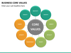 Business core values PPT slide 22