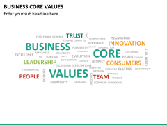 Business core values PPT slide 24