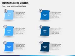 Business core values PPT slide 11