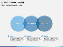 Business core values PPT slide 13
