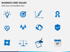Business core values PPT slide 15