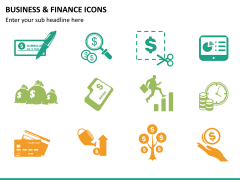 Business and finance icons PPT slide 9