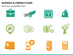 Business and finance icons PPT slide 10