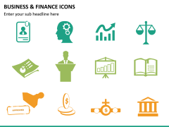 Business and finance icons PPT slide 11