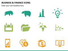Business and finance icons PPT slide 12
