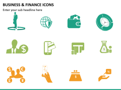 Business and finance icons PPT slide 14