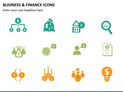 Business and finance icons PPT slide 15