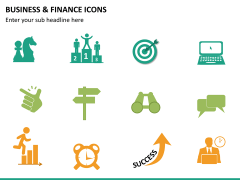 Business and finance icons PPT slide 16