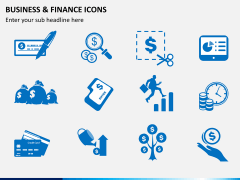 Business and finance icons PPT slide 1