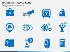 Business and finance icons PPT slide 2