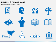 Business and finance icons PPT slide 3