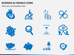 Business and finance icons PPT slide 5