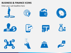 Business and finance icons PPT slide 6