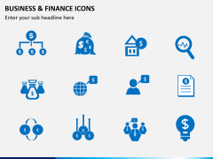 Business and finance icons PPT slide 7