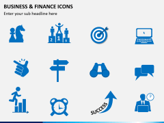 Business and finance icons PPT slide 8