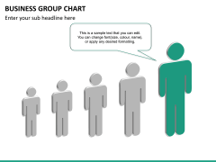 Business group chart PPT slide 18