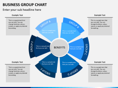 Business group chart PPT slide 1